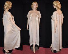 Vivacious Victorian! Rare & Unworn 1900s Ankle-Length Silk Night Dress