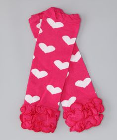 Add pretty pizzazz to an outfit with these cozy leg warmers. Embellished with frilly ruffles and a sweet pattern, little legs will stay toasty and look trendy.