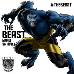 Manu Vatuvei also known as The Beast takes on his beastly form