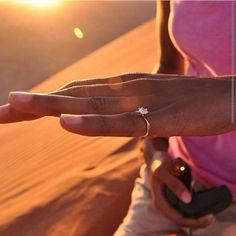 Congratulations to our fabulous clients on their engagement in the sand dunes of Namibia, with their custom made Hyde Park Design engagement ring.