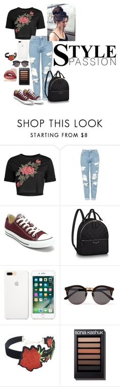 """""""Rosy pt 2"""" by katiecutie31 on Polyvore featuring Topshop, Converse, Illesteva and WithChic"""