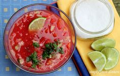 Simply Fresh Dinners: Watermelon Gazpacho with Lime