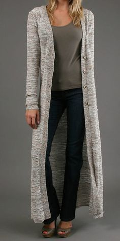 Free People The Beverly Maxi Cardigan Knit Sweater Floor Length