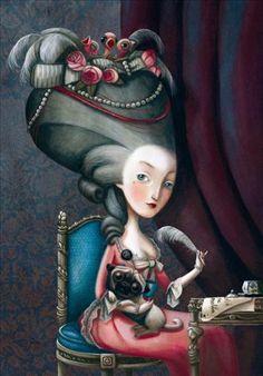 Carnet de Notes Marie-Antoinette, Benjamin Lacombe