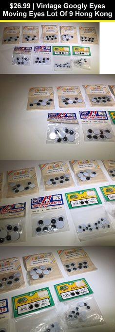 DIY /& Craft Supplies Pack of 300 10mm Black Wiggle Googly Eyes