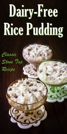 Vegan Stovetop Rice Pudding Recipe - easy, classic, gluten-free, egg-free, nut-free, soy-free, and dairy-free