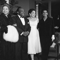 Hazel Scott, Count Basie,unknown and Lena Horne - November 1954 by G. Marshall Wilson