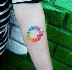 Watercolor Color Wheel by Joice Wang