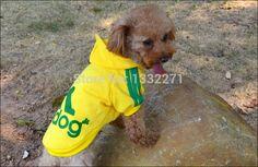 A Roupa do cão Animais De Estimação Casacos de Algodão Macio Filhote de Cachorro Roupa Do Cão Hoodies Adidog roupas Para O Cão Novo 2016 Outono Produtos Pet 7 Cores XS XXL em Moletons para Cachorros de Home & Garden no AliExpress.com | Alibaba Group