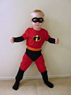 DIY Superhero Costume : DIY Homemade Incredibles Halloween Costume :DIY Halloween DIY Costumes