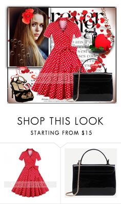 """Seven grils 13"" by difen ❤ liked on Polyvore featuring Toni&Guy and vintage"