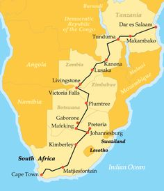 Rovos Rail Cape Town to Dar es Salaam: Africa by Luxury Train Trains, Rift Valley, Dar Es Salaam, Victoria Falls, Train Journey, African Safari, Train Rides, Africa Travel, Train Travel