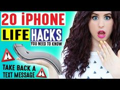 20 iPhone Life Hacks | Take Back A Text Message | iPhone Hacks For School & Life You May Not Know! - YouTube