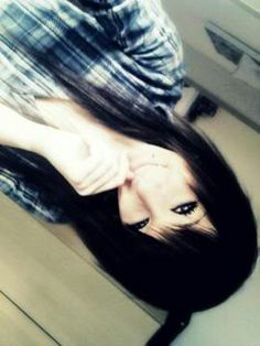 black dyed scene hair