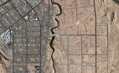 A growing community near a well-off city. (© Google, GeoEye)