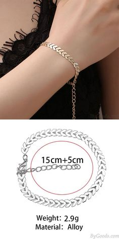 Leisure Bohemia Simple Leaves Arrow Women Bracelet #leaves #arrow #Bracelet
