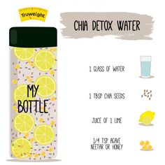Presenting the DIY Recipe for Chia Detox Water. Thank us later for sure. #ChiaDetoxWater #DetoxDrink #DIY #TruweightRecipes #detoxsmoothie
