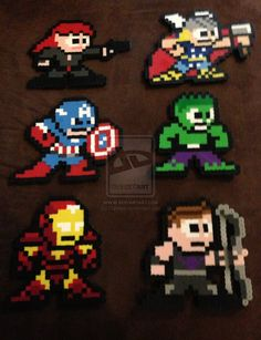 Avengers perler beads by Karulaa on deviantart