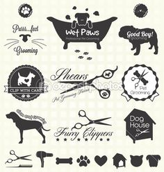 dog grooming illustration - Google Search