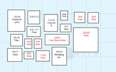 free printable gallery wall template for planning layout with ...