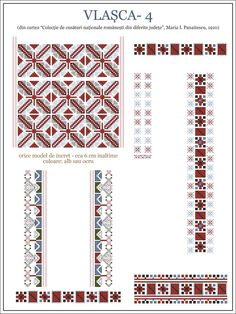 Creative Embroidery, Folk Embroidery, Learn Embroidery, Embroidery Stitches, Embroidery Patterns, Cross Stitch Borders, Cross Stitch Patterns, Embroidery Techniques, Repeating Patterns