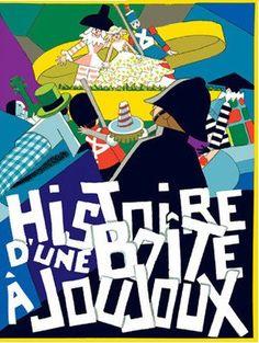 "Französisches Bilderbuch ""Histoire d`une boîte à joujoux"" André Hellé / Bilderbu – mundo azul"