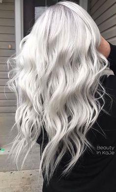 Platinum Silver Hair Icy Blonde Colour Most Popular Ideas Platinum Blonde Hair Color, Silver Blonde Hair, Icy Blonde, Blonde Wig, Silver Hair Colors, Silver Platinum Hair, Long Silver Hair, Ice Blonde Hair, Silver White Hair