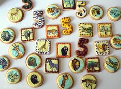 Safari animal cookies, Africa galletas animales, Afrika Safari Kekse by Atelier Pastry Fork, Mallorca