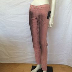 "ROBERTO CAVALLI OMBRE BLACK/PINK SLIM SKINNY PANTS JUST CAVALLI FUNKY SEAMED SKINNY CIGARETTE JEANS by ROBERTO CAVALLI! 100% Authentic! Brand New with Tags. Retail $598. Very stretchy lycra cotton has stitched raised seamed front detailing and black air-brushed chic detailing! Very unique. RARE. Made in Italy. Wearable size fits USA small. Fabric 98% cotton and 2% other. 50% cotton and 50% poly. Size: 28, Italian 42. w 15-16.5"" stretched, rise 8.5"", at bottom zip 18""-20.5"", orig cropped…"