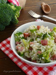 risotto speck e broccoli