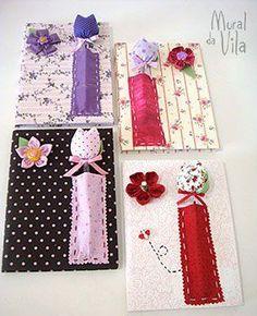 Cadernos com capa de feltro