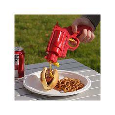 Ketchup og sennep pistol. Gør din grillaften lidt sjovere, med en super sej pistol til ketchup eller sennep