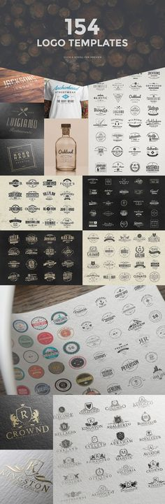 1300 Logos Ultimate Bundle - This bundle includes a big variety of templates that will cover any past or future trend! Included are retro logos, vintage logos, minimal logos, modern logos, feminine logos, typography logos, herladic crests, badges, insignias, monograms and more! By Zeppelin Graphics $29 #affiliatelink