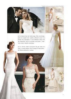 Justin Alexander and Justin Alexander Signature wedding dresses are featured in Panna Mloda's summer 2013 issue.
