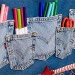 """Fifty plus denim jeans re-purpose recycle. I never knew there were so many things to do with old """"worn"""" out jeans."""