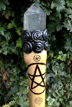 Elder Witch Staff wicca wiccan witchcraft waling by MoonsCraftsUK