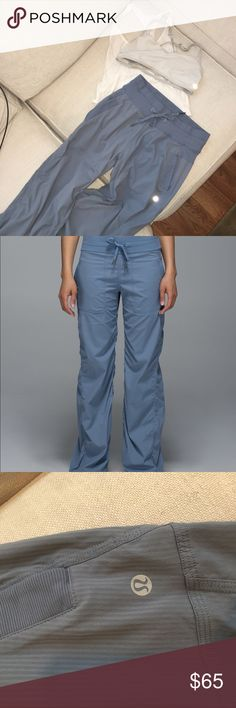 0c8fa05e4 Blue denim unlined dance studio pant size 4 A classic Lululemon casual pant!  Lightweight lulu