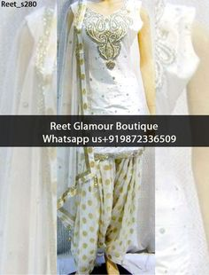 Marvelous White And Golden Heavy Embroidered Punjabi Suit Product Code : Reet_s280 To Order, Call/Whats app On +919872336509 We Offer Huge Variety Of Punjabi Suits, Anarkali Suits, Lehenga Choli, Bridal Suits,Sari, Gowns Etc .We Can Also Design Any Suit Of Your Own Design And Any Color Combination.