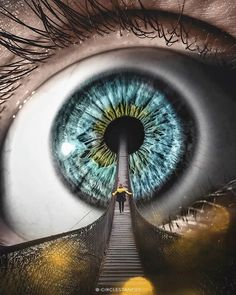 If the eyes are the window to the soul, this is the bridge that connects you and it. Digital Art - Goosebumps on my Brain. Click the image, for more art by Oleg. Instagram Shoutout, Ft Tumblr, Eyes Artwork, Aesthetic Eyes, Crazy Eyes, Eye Photography, Montage Photography, Soul Art, Artist Gallery