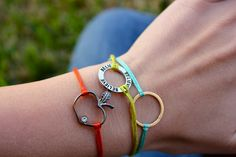 These bracelets are simple and cute.  Must make.