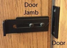 Sliding Barn Door locking latch to ensure privacy for bathroom doors. This will … Sliding Barn Door locking latch to ensure privacy for bathroom doors. This will keep the door from being pushed to either side when closed. Be sure to leave a few inches of