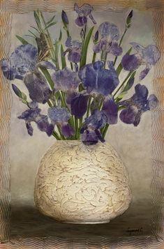 White Vases, Mixed Media, Graphic Design, Creative, Artist, Home Decor, Decoration Home, Room Decor, Artists