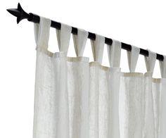 Záclona HOLDEN 1x140x245 cm pruhy béžová | JYSK