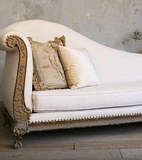 Vintage 1940's Elegant Grand Chaise Lounge-gothic,gilt, carved, hand, gracefull, floral,