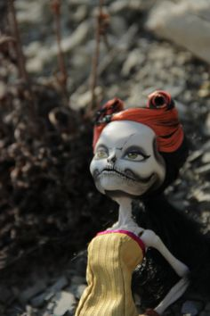Monster high OOAK doll Skelita Calaveras by MelancholiaCraft
