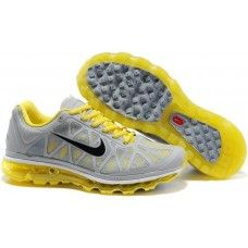 Womens Nike Air Max 2011 Mesh Gray/Yellow running shoes for sale