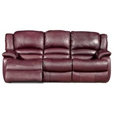 Ordinaire Black Cherry Leather Like Reclining Sofa   Living Room Furniture