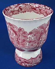 Antique Mason's Vista Double Egg Cup Pink Transferware (Masons) at Time Was Antiques Vintage Egg Cups, Vintage Dishware, Vintage Dishes, Egg Coddler, Eggs, Tea Cup Saucer, Tea Cups, Style Anglais, Toast Rack
