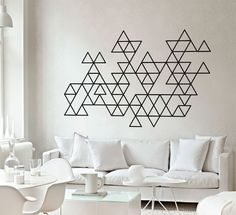 Geometric Mid Century Modern Decals - Triangles - Abstract Wall Sticker by homeartstickers on Etsy https://www.etsy.com/listing/211548537/geometric-mid-century-modern-decals