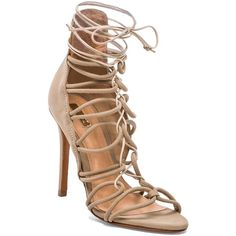 Schutz Fiorenza Heel ($260) ❤ liked on Polyvore featuring shoes, sandals, heels, leather sole shoes, schutz, schutz footwear, high heels sandals and schutz sandals